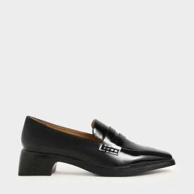 【再入荷】クラシックヒール ローファー / Classic Heeled Loafers (Black)
