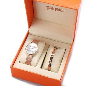 フォリフォリ Folli Follie STARGAZE バングル&ウォッチ/腕時計セット (ピンクゴールド)