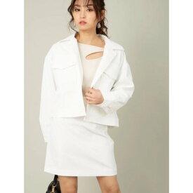 セシルマクビー CECIL McBEE BIG CPOジャケット×スカートセット (オフホワイト)
