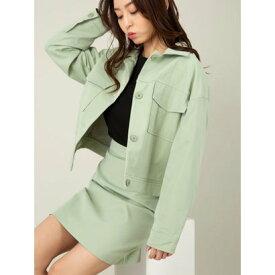 セシルマクビー CECIL McBEE BIG CPOジャケット×スカートセット (ライトグリーン)