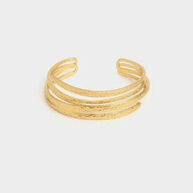 【2020 SPRING 新作】ハンマード カフブレスレット / Hammered Cuff Bracelet (Brush Gold)