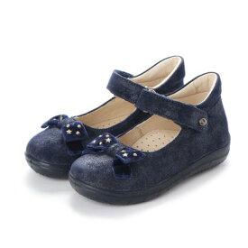 【アウトレット】ヨーロッパコンフォートシューズ EU Comfort Shoes Naturino ベビーパンプス (ネイビーラメ)