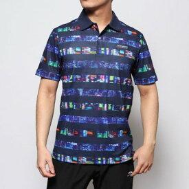 ニューバランス new balance メンズ ゴルフ 半袖シャツ トーキョーナイトボーダープリントポロシャツ 0120160005