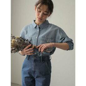 アースミュージックアンドエコロジー earth music&ecology COTTON USAデニムBIGシャツ (Sax)