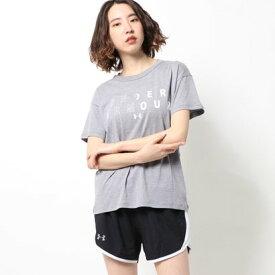 アンダーアーマー UNDER ARMOUR レディース 半袖Tシャツ UA Girlfriend Big textlogo 1355400