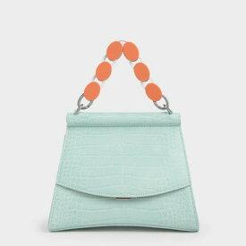 【2020 SPRING 新作】アクリルハンドル スカルプチャーバッグ / Acrylic Handle Sculptural Bag (Mint Blue)