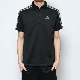 アディダス adidas メンズ ゴルフ 半袖シャツ AP スリーストライプス 半袖ボタンダウンシャツ GD8471