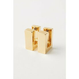マウジー moussy MINI CUBE EARRINGS (ゴールド)