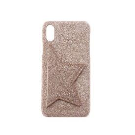 ハシバミ Hashibami Star Point Glitter iPhonecase 【スター ポイント グリッター アイフォンケース】※iPhone X.XS対応 (ゴールド)