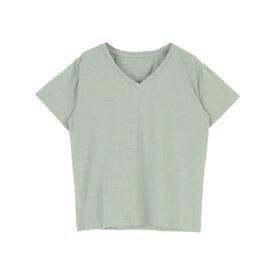 ティティベイト titivate ベーシックVネックTシャツ (ミントグリーン)