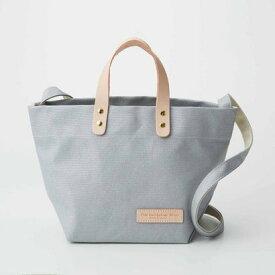 クラソ Kraso デイリーサイズがうれしい 日本製のカラー帆布 ショルダートートバッグ (シルバー)