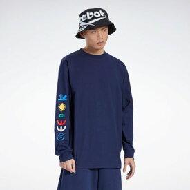 リーボック Reebok【Reebok CLASSIC x BLACK EYE PATCH】ブラック アイ パッチ Tシャツ / BLACK EYE PATCH Tee (ブルー)
