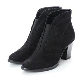 【アウトレット】ソフィアコレクション Sophia collection Vカットショートブーツ (ブラック)