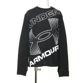 アンダーアーマー UNDER ARMOUR ジュニア 長袖Tシャツ UA LIVE Branded Logo LS 1364174 (ブラック)