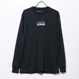アンダーアーマー UNDER ARMOUR メンズ バスケットボール 長袖Tシャツ UA Longshot LS Tee 2.0 1364041 (ブラック)