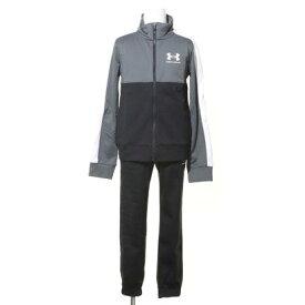 アンダーアーマー UNDER ARMOUR ジュニア ジャージ上下セット UA Color Block Knit Track Suit 1360671 (ブラック)