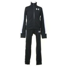 アンダーアーマー UNDER ARMOUR ジュニア ジャージ上下セット UA Girls Knit Track Suit 1347741 (ブラック)