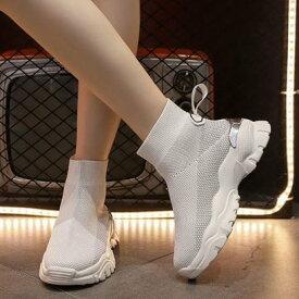 ロディック Rodic レディース 靴 シューズ ブーツ スニーカー ショートブーツ スニーカーブーツ ハイテクスニーカー 厚底 ソックススニーカー (ホワイト)