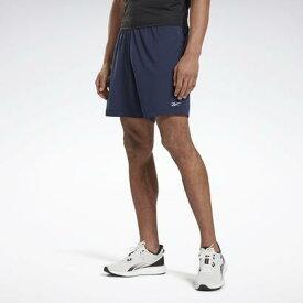 リーボック Reebok ラン エッセンシャルズ ベーシック 7インチ ショーツ / Run Essentials Basic 7-Inch Shorts (ブルー)
