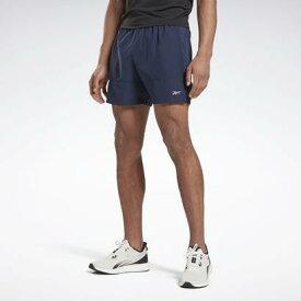 【アウトレット】リーボック Reebok ラン エッセンシャルズ 5インチ ショーツ / Run Essentials 5-Inch Shorts (ブルー)