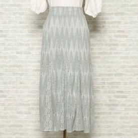 ウィルセレクション レースmixマーメイドスカート ペパーミント