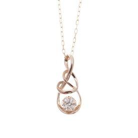 サマンサティアラ Infinity Love knot(ネックレス) K18 ピンクA