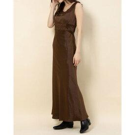 デイシー DEICY サテンレースドレス (ブラウン)