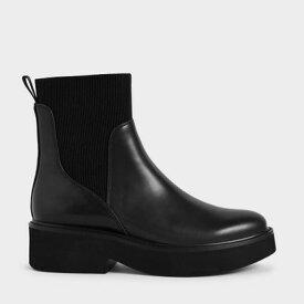 【2020 WINTER 新作】アンクルソックス ブーツ / Ankle Sock Boots (Black)
