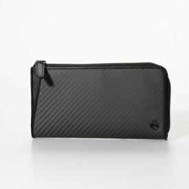 ミラグロ Milagro リアルカーボンF・L字ファスナー長財布(MAMORIO搭載) (ブラック)