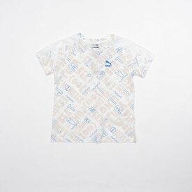 【アウトレット】プーマ PUMA セサミ SS AOP Tシャツ G (PUMA WHITE)