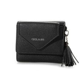 セシルマクビー CECIL McBEE オクナ 三つ折りミニ財布 (ブラック)