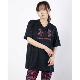 アンダーアーマー UNDER ARMOUR レディース 半袖機能Tシャツ UA Tech Animal Logo Tee 1366865 (ブラック)
