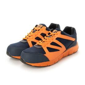 ジーディージャパン GD JAPAN 安全靴 セーフティーシューズ 鋼鉄先芯 ローカット 軽量 GD-813 オレンジ (ネイビー/オレンジ)