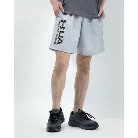 アンダーアーマー UNDER ARMOUR メンズ ウインドハーフパンツ UA Woven Emboss Shorts 1361432 (グレー)