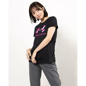 アンダーアーマー UNDER ARMOUR レディース 半袖機能Tシャツ UA Tech Big Logo Tee 1364211 (ブラック)