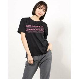 アンダーアーマー UNDER ARMOUR レディース 半袖機能Tシャツ UA Tech Box Graphic Tee 1364216 (ブラック)