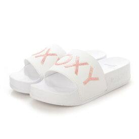 【ムラサキスポーツ限定】 ROXY/ロキシー サンダル 厚底  RSD211502M (ホワイト×ピンク)