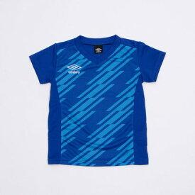 アンブロ UMBRO ジュニア サッカー/フットサル 半袖シャツ TR グラフィック半袖プラクティスシャツ UUJRJA50AP (ブルー)