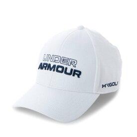 アンダーアーマー UNDER ARMOUR メンズ ゴルフ キャップ UA Jordan Spieth Tour Hat 1361545 (ホワイト)