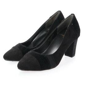 【アウトレット】シューズラウンジ アウトレット shoes lounge OUTLET チャンキーヒール パンプス 80 BD40164BLA (ブラック)