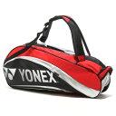 ヨネックス YONEX テニスラケットケース BAG1612R ラケットバッグ6(リュック付)〈テニス6本用〉 BAG1612R ブラック×レッド