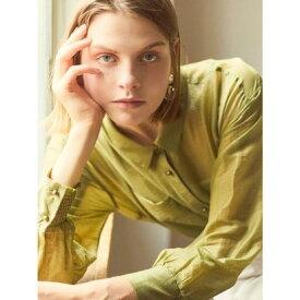 シアーBIGシャツ (黄緑)
