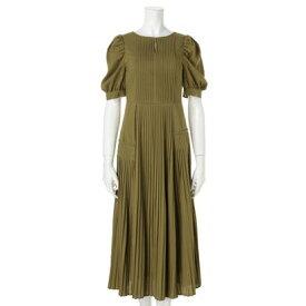 レディメイド LADYMADE アシメプリーツドレス(オケージョン) (黄緑)