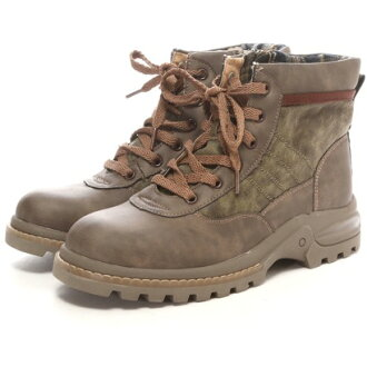 雪松顶橙色星雪松顶 ORANGESTAR 军事风格花边靴子 CC-2636年 (卡其色)