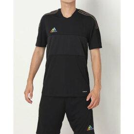 アディダス adidas メンズ サッカー/フットサル 半袖シャツ GS4721 (ブラック)