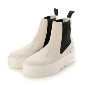 PUMA/プーマ メイズ チェルシー スウェード スニーカー レディース 厚底 ブーツ 382829 (ホワイト×ブラック)