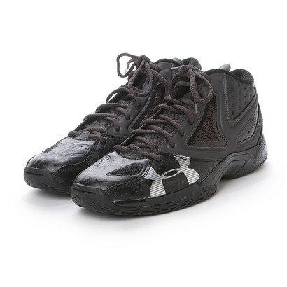 アンダーアーマー UNDER ARMOUR バスケットボールシューズ UAマイクロGニホン プラス #1267986 562 (ブラック×チャコールグレイ×メタリックシルバー)