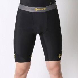 【アウトレット】スキンズ SKINS スポーツショートタイツ DNA M ハ-フタイツ DK9905002 (ブラック×イエロー)