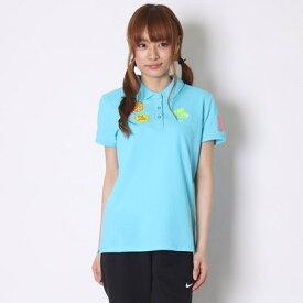 キスマーク kissmark ゴルフシャツ KM-1H416P ブルー (セルリアンブルー)