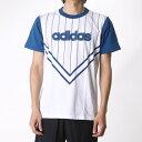 アディダス adidas メンズ 半袖Tシャツ SC ロゴ ピンストライプTシャツM AP4541